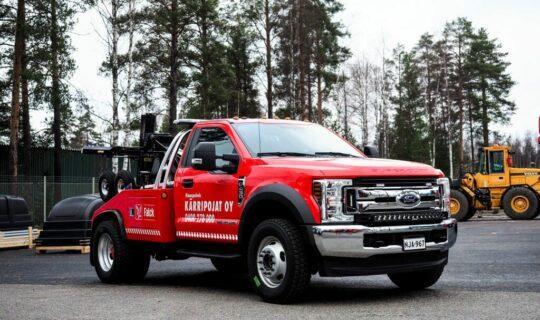 Ford f450 hinausauto - Kärripojat Oy